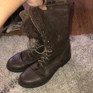 Madden Girl brown combat boots